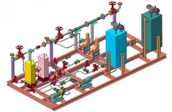 Устройство смешения присадок с дизельным топливом 3D-схема